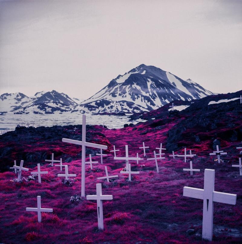 Greenland - Kodak Aerochrome infrared film by Daniel Zvereff